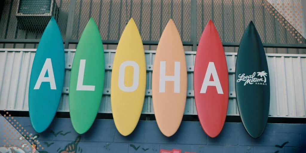 surf board aloha