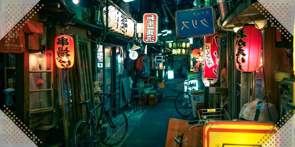 traveling on the street in Japan