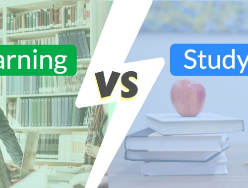difference between learning and studying
