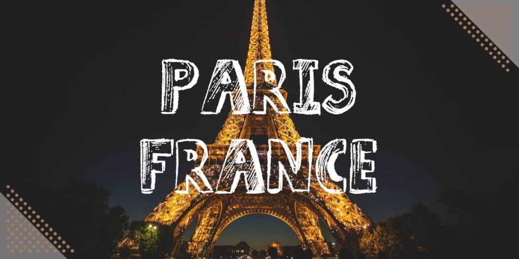 Best Places To Visit In Europe In November: Paris France